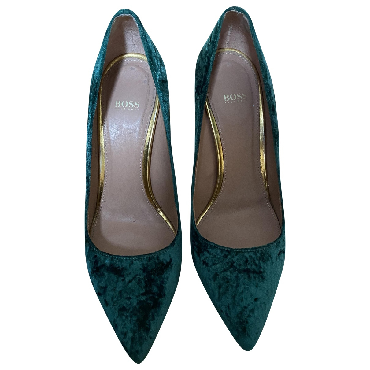 Boss \N Green Velvet Heels for Women 37 EU