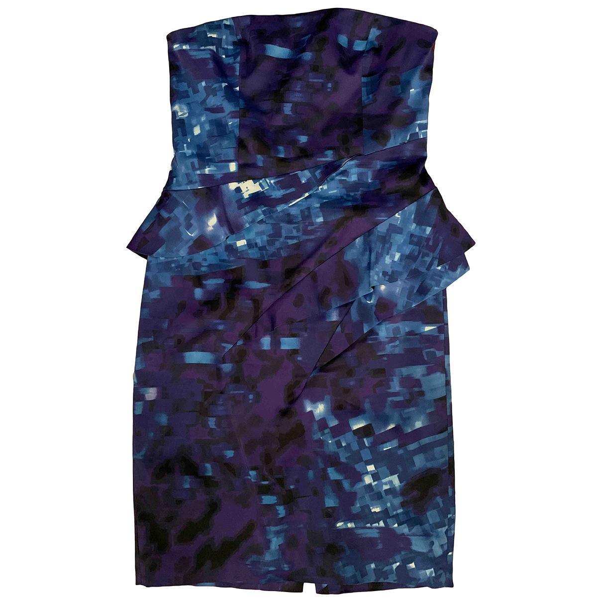 Karen Millen \N Kleid in  Blau Baumwolle - Elasthan