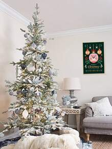 Christmas Pattern Wall Painting Without Frame