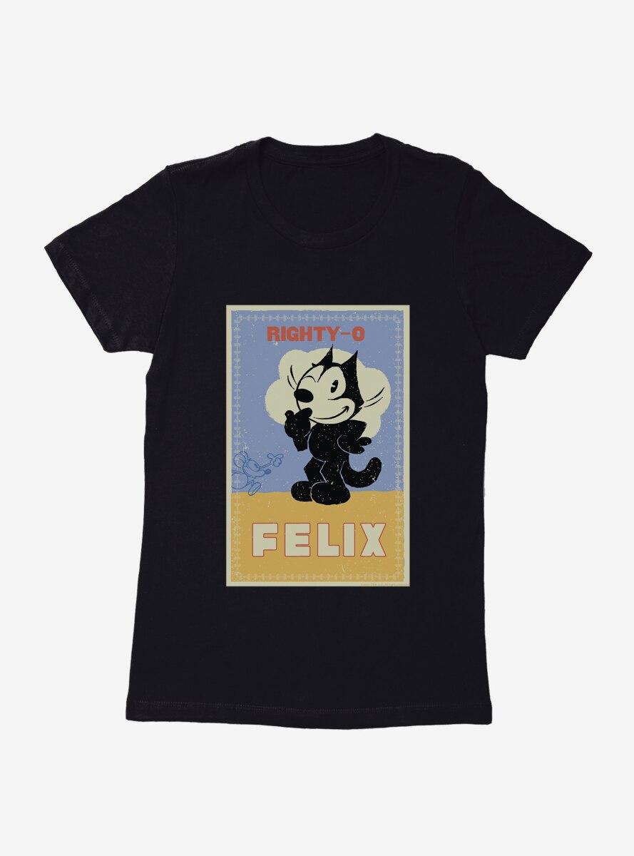 Felix The Cat Mighty-O Womens T-Shirt