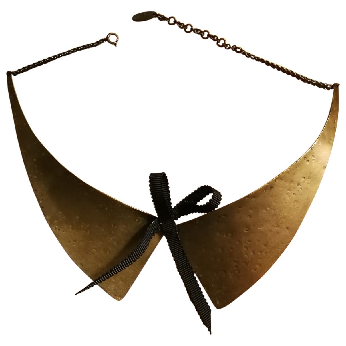 Agnes B. - Collier   pour femme en metal - dore