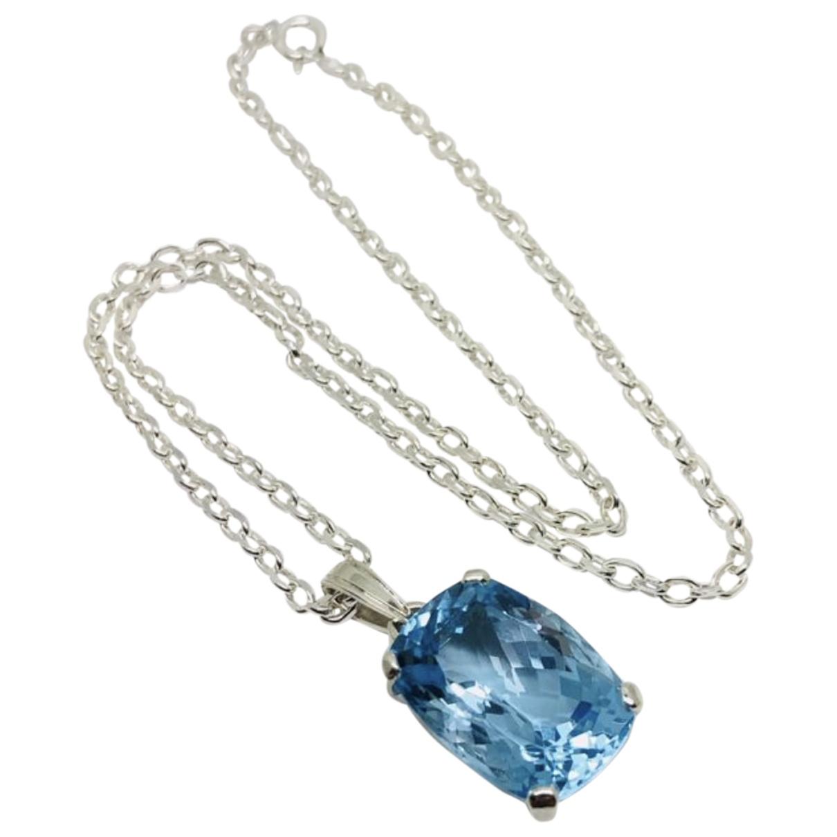 - Pendentif   pour femme en argent - bleu