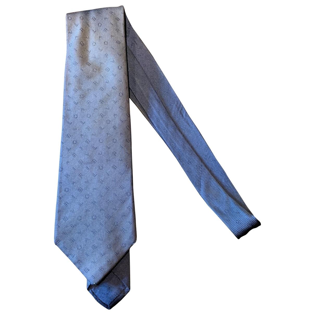 Bvlgari - Cravates   pour homme en soie - bleu