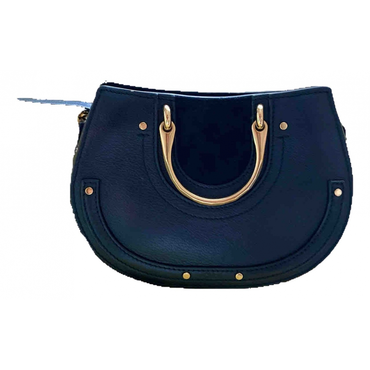 Chloe Pixie Handtasche in  Blau Leder