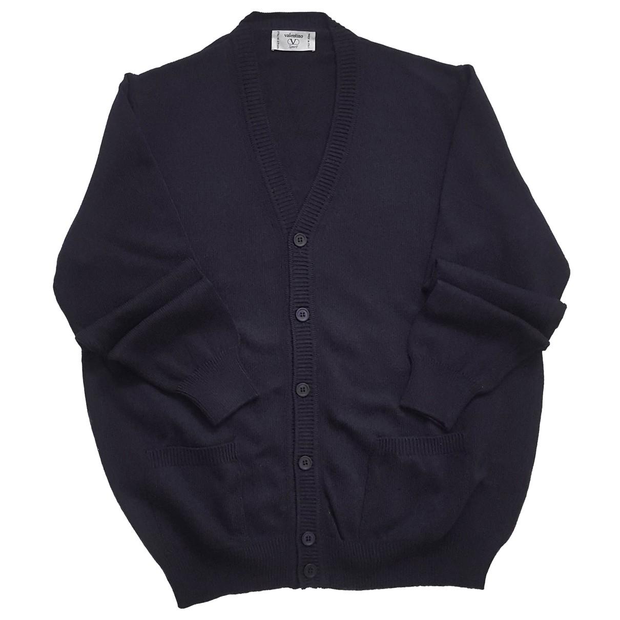 Valentino Garavani \N Pullover.Westen.Sweatshirts  in  Blau Baumwolle