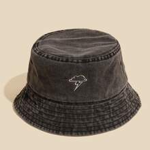Cloud Embroidery Bucket Hat