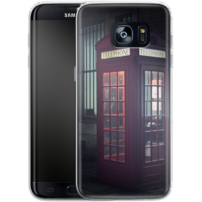 Samsung Galaxy S7 Edge Silikon Handyhuelle - London Calling 2 von Ronya Galka