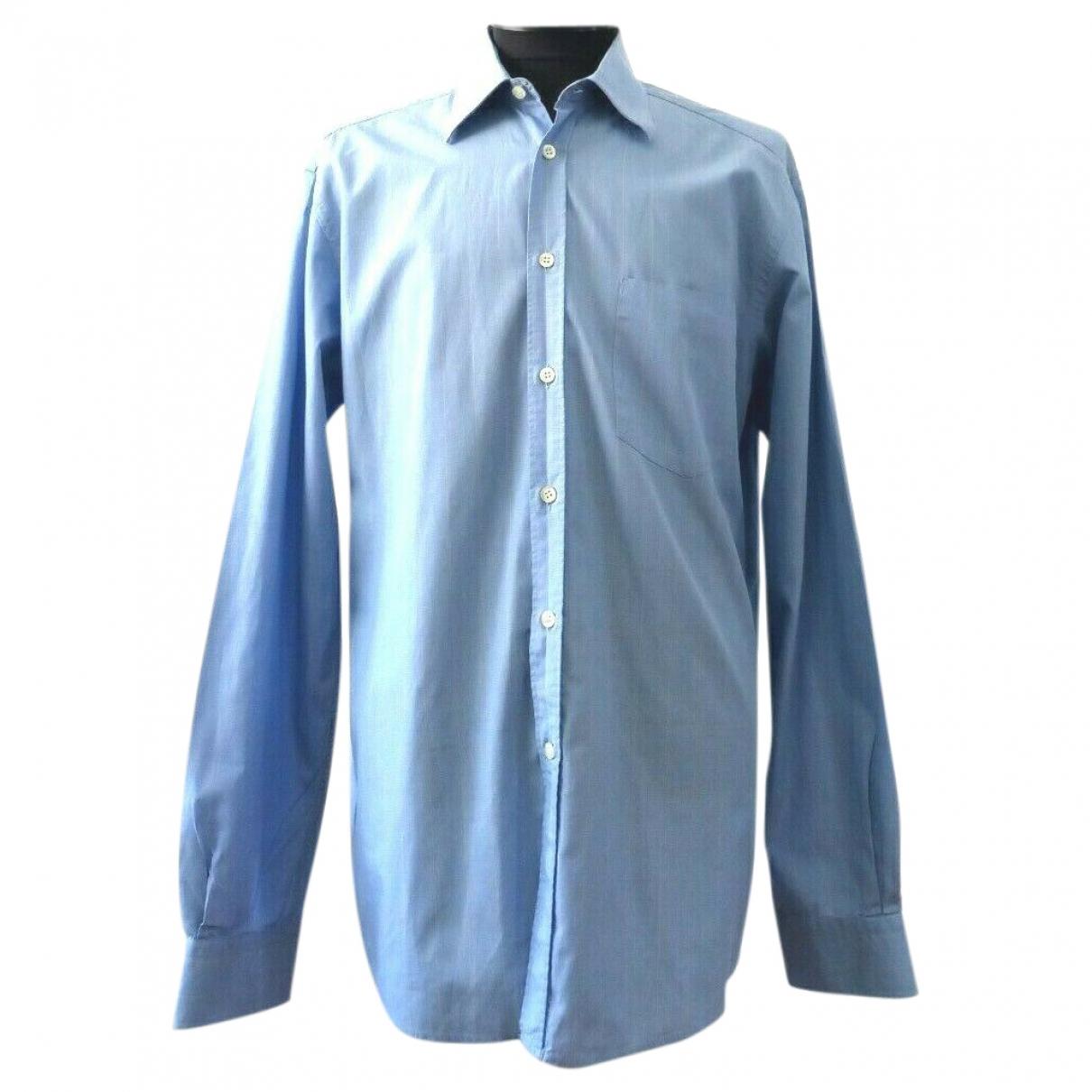Boss \N Blue Cotton Shirts for Men 39 EU (tour de cou / collar)