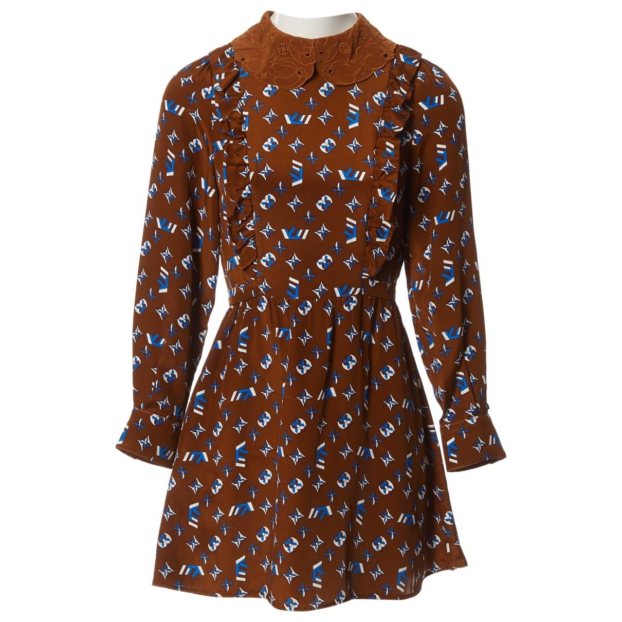 Louis Vuitton - Robe   pour femme en soie - marron