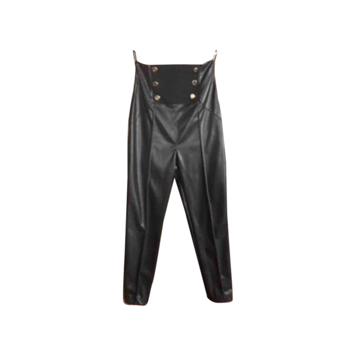 Elisabetta Franchi \N Black Trousers for Women 46 IT