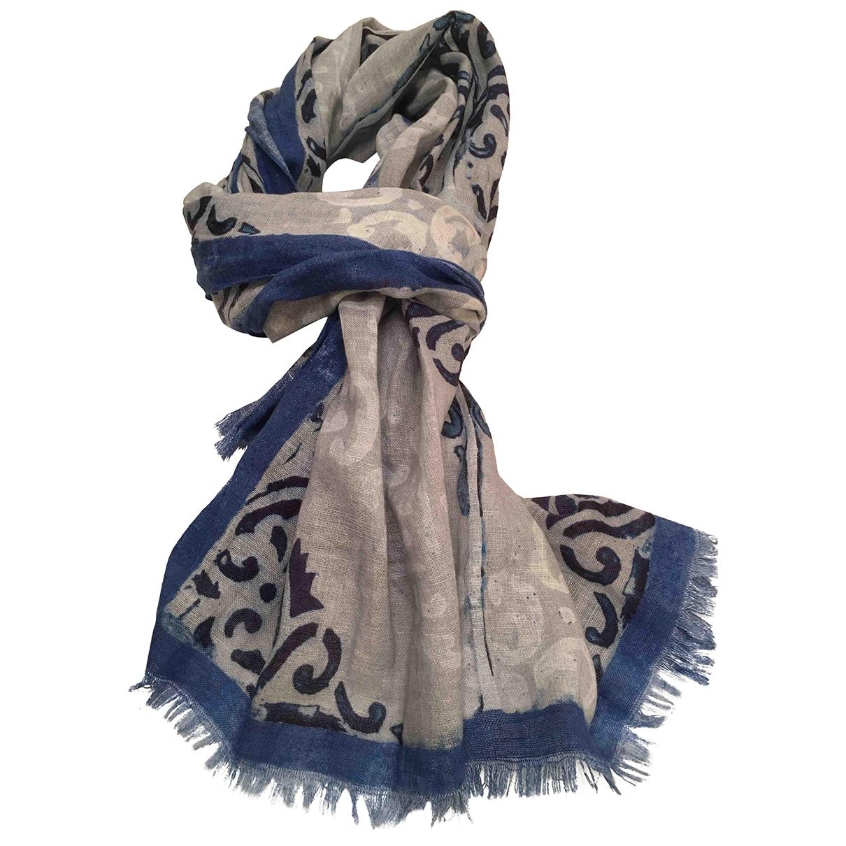 - Foulard   pour femme en coton - gris