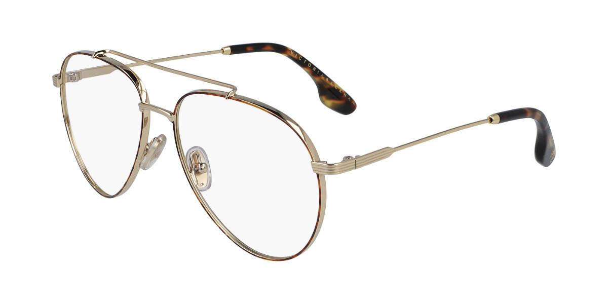 Victoria Beckham VB218 214 Women's Glasses Gold Size 56 - Free Lenses - HSA/FSA Insurance - Blue Light Block Available