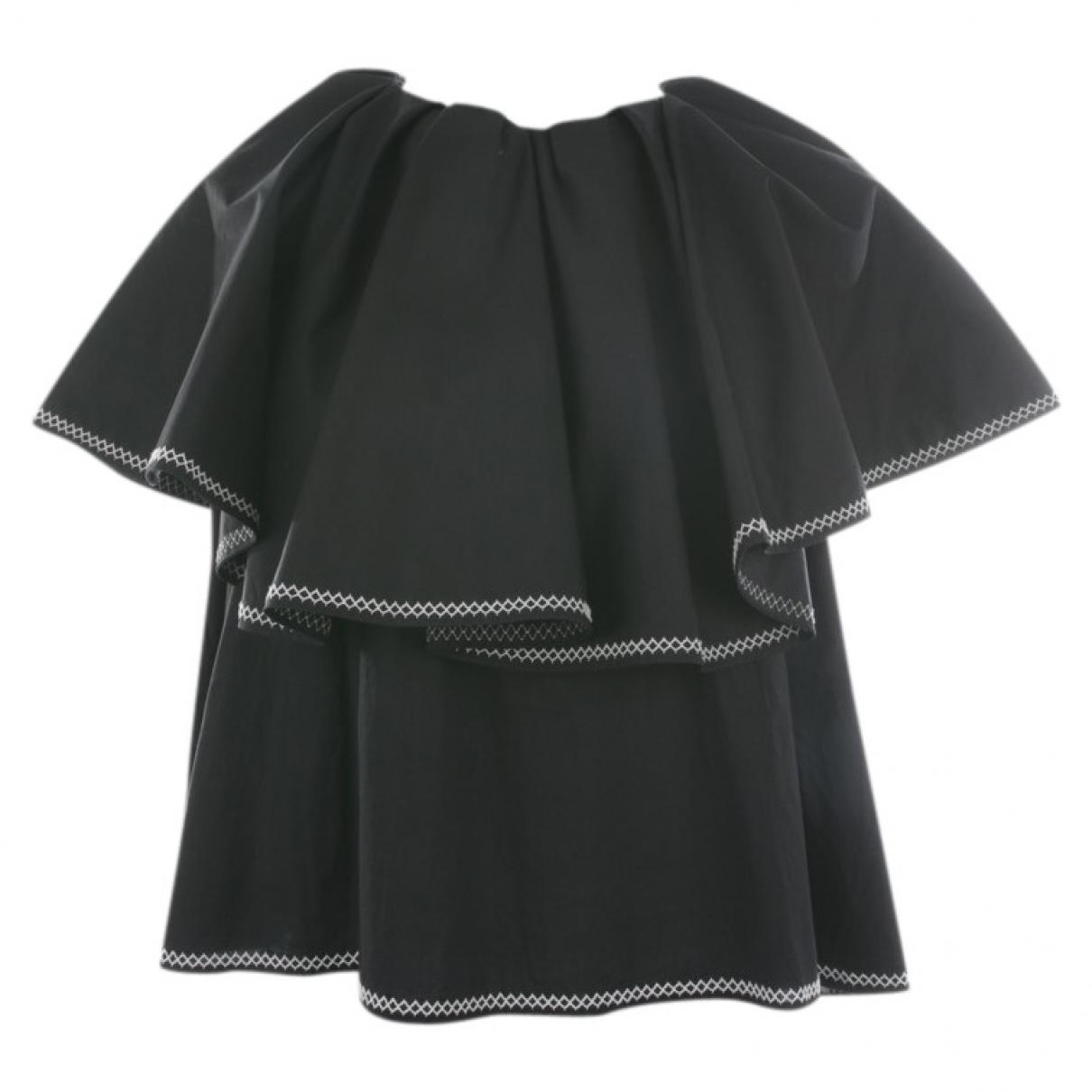 Huishan Zhang - Top   pour femme en coton - noir