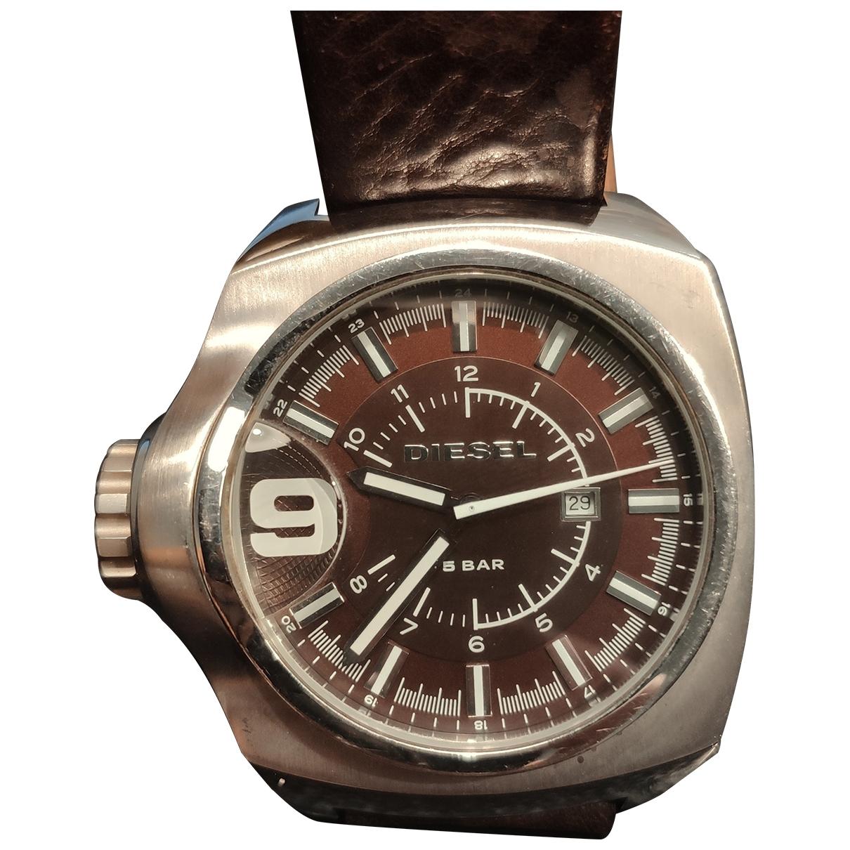 Diesel \N Silver Steel watch for Men \N