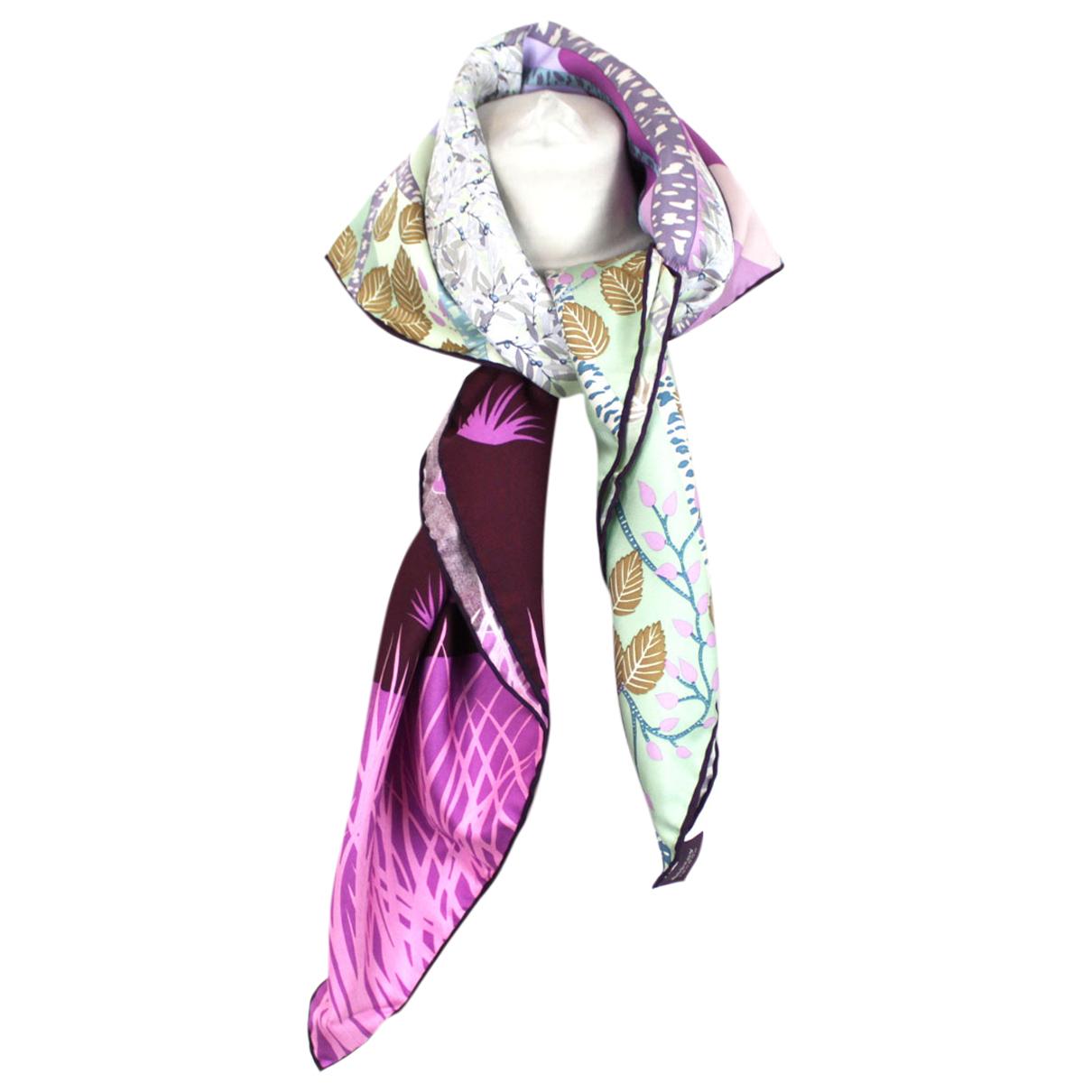 Asprey Of London - Foulard   pour femme en soie - violet