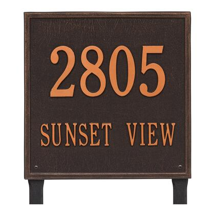 2120OB Personalized Square Plaque - Estate - Lawn - 2 line in Oil Rubbed