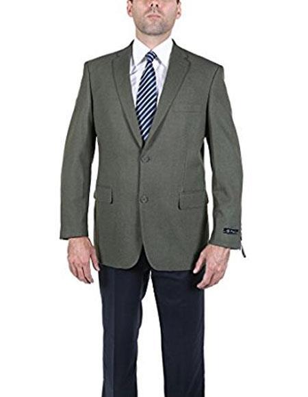 MenÕs Classic Olive 2 Button Blazer Suit Jacket