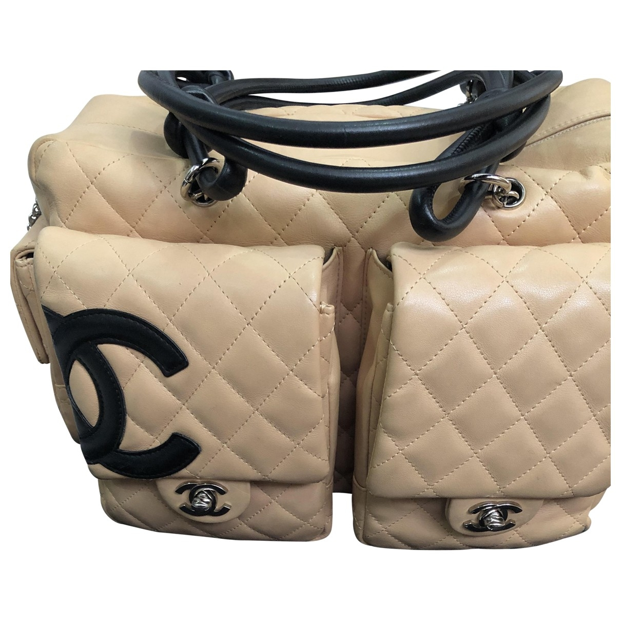 Chanel Cambon Pink Leather handbag for Women \N