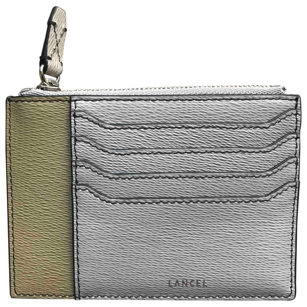 Lancel - Petite maroquinerie   pour homme en cuir - kaki