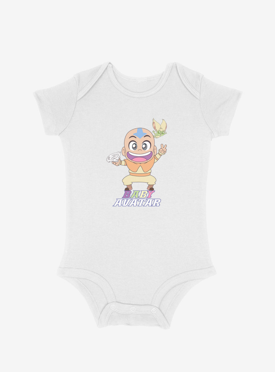 Avatar: The Last Airbender Baby Aang And Momo Infant Bodysuit