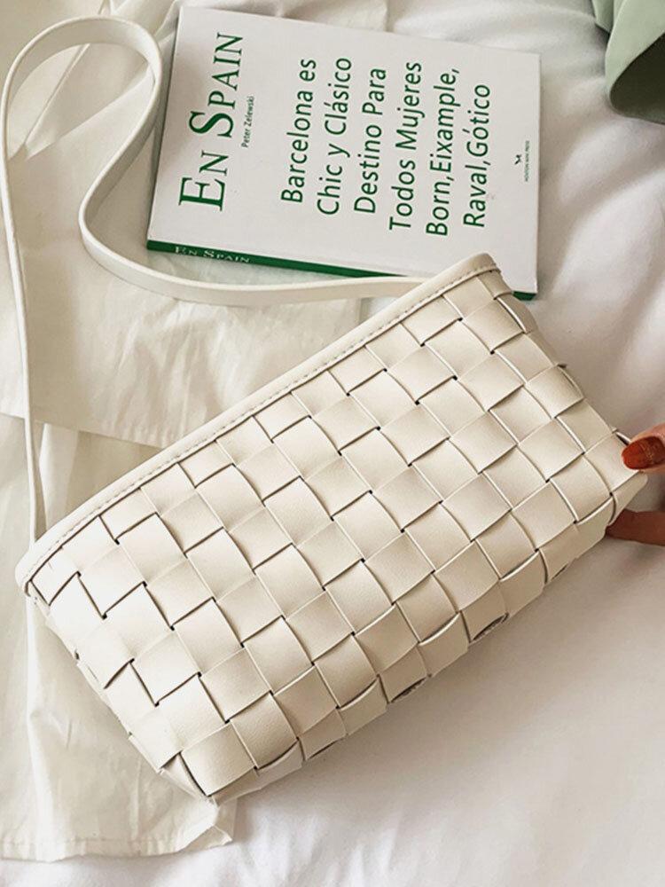 Women Vintage Weave Quilting Shoulder Bag Handbag