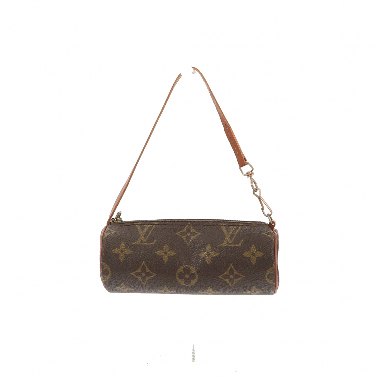 Louis Vuitton Papillon Clutch in  Braun Leinen