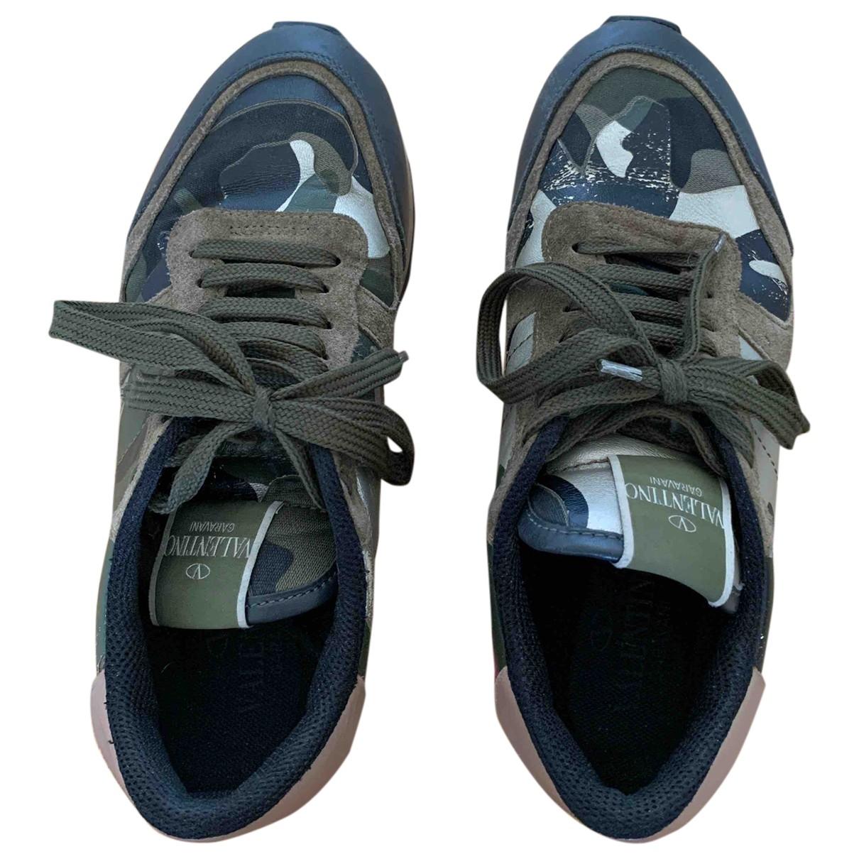 Valentino Garavani \N Sneakers in  Gruen Leder