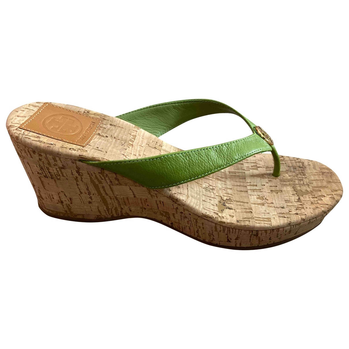 Tory Burch \N Green Leather Sandals for Women 9 US