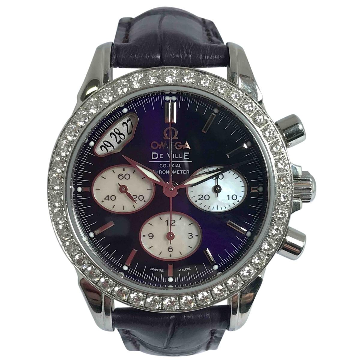 Omega De Ville  Purple Steel watch for Women \N