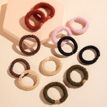 12pcs Braided Hair Tie