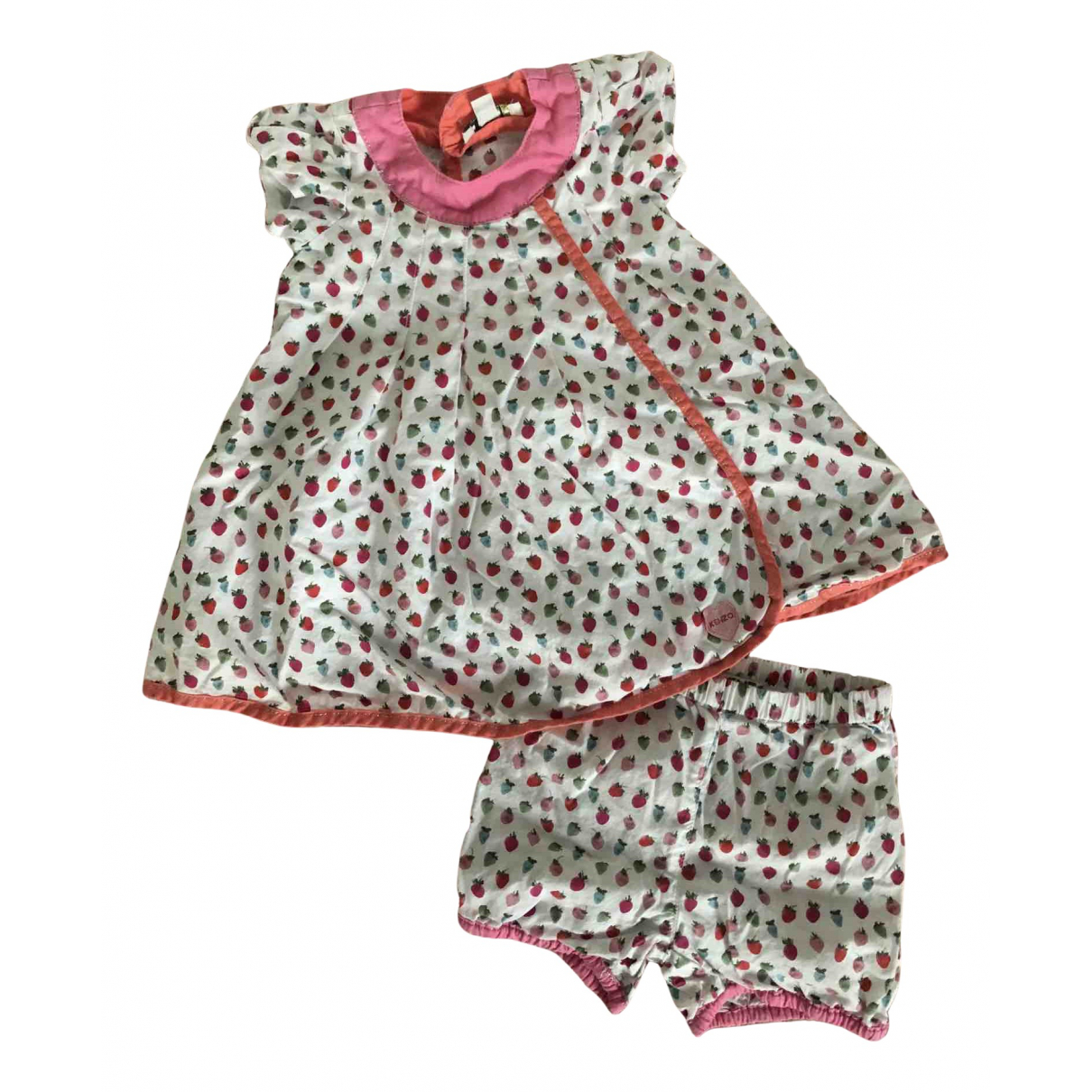 Kenzo N White Cotton Outfits for Kids 3 months - up to 60cm FR