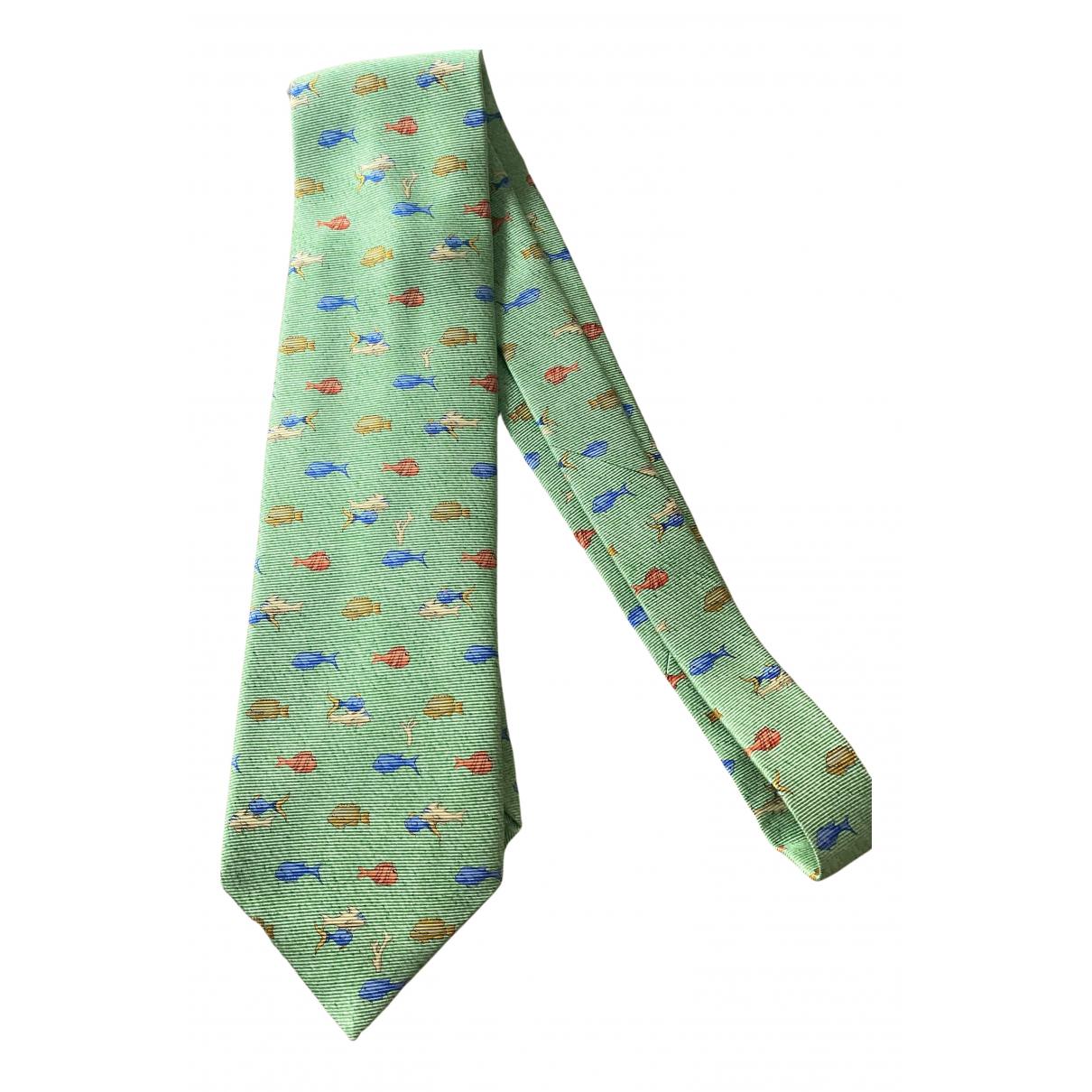 Bvlgari - Cravates   pour homme en soie - vert