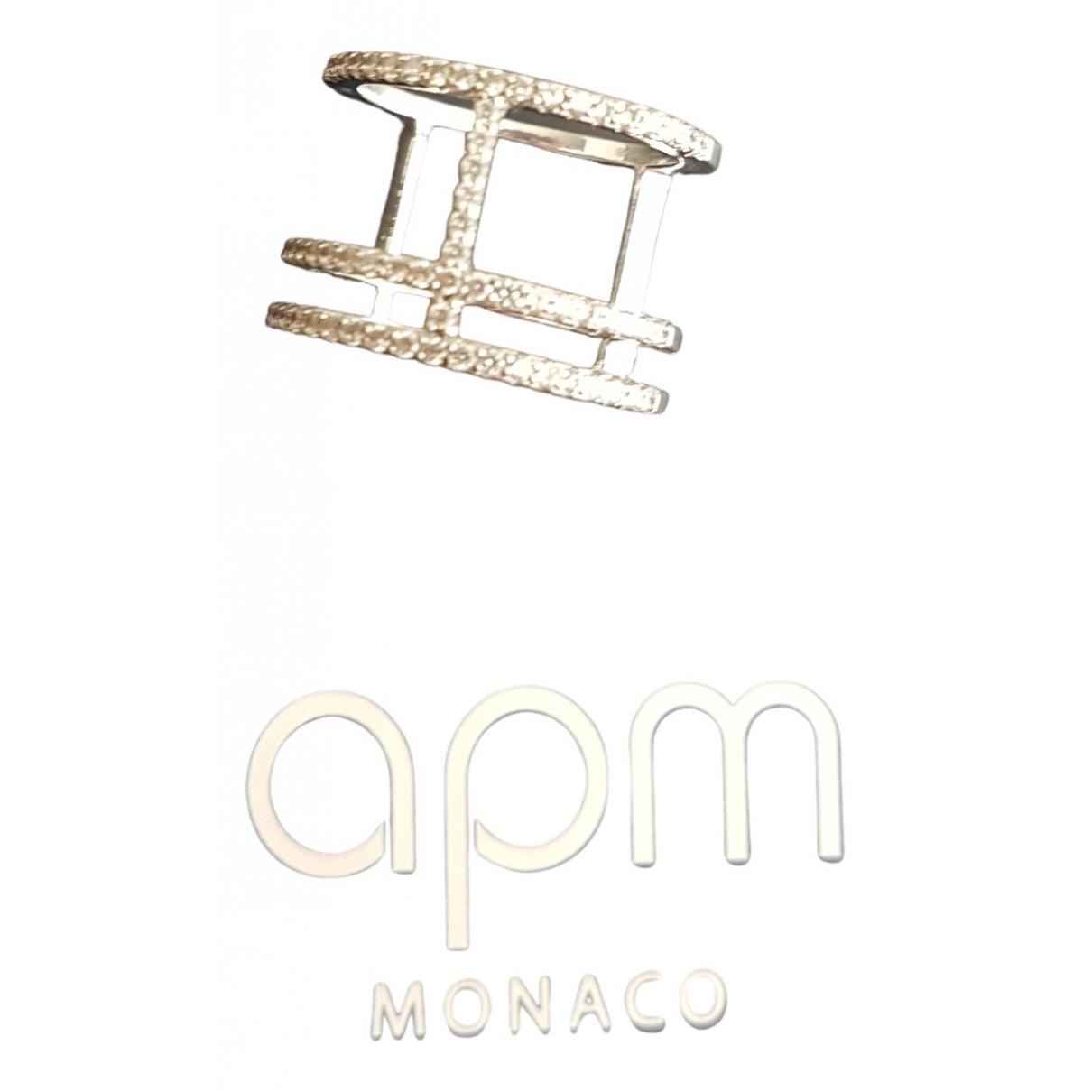 Apm Monaco - Bague Croisette pour femme en argent - blanc