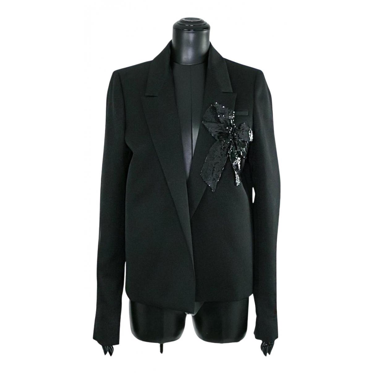 Rochas N Black Cotton jacket for Women 42 IT