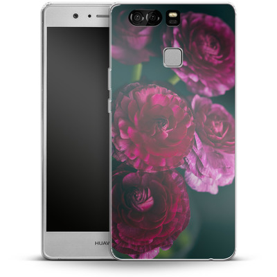Huawei P9 Silikon Handyhuelle - Purple Ranunculus 2 von Joy StClaire