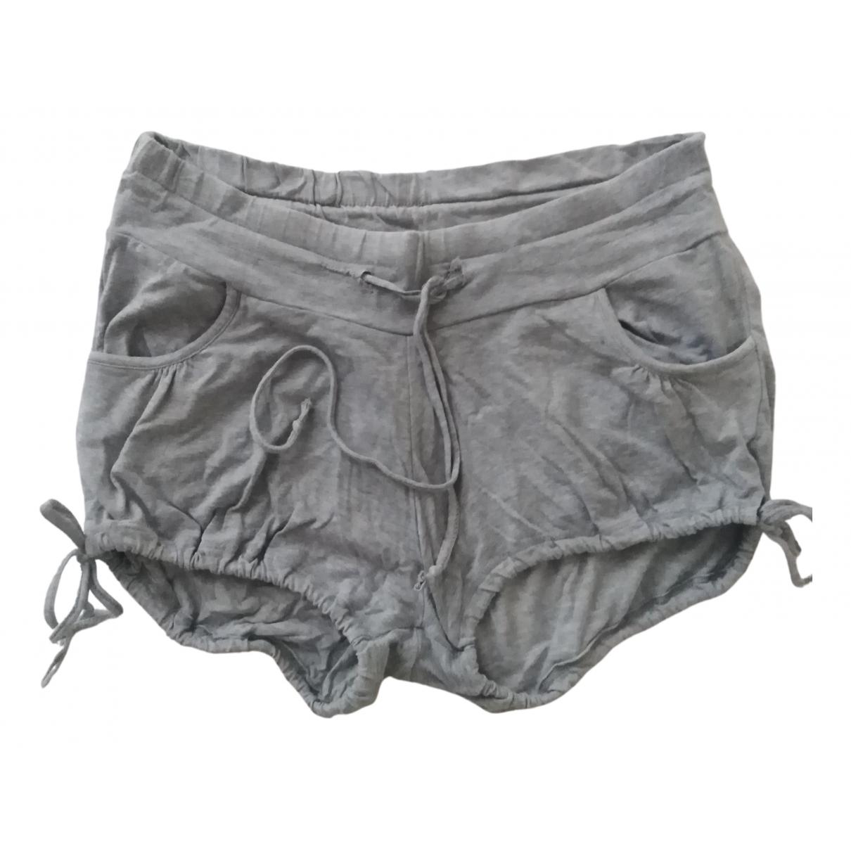 Mos Mosh N Grey Cotton - elasthane Shorts for Women 36 IT