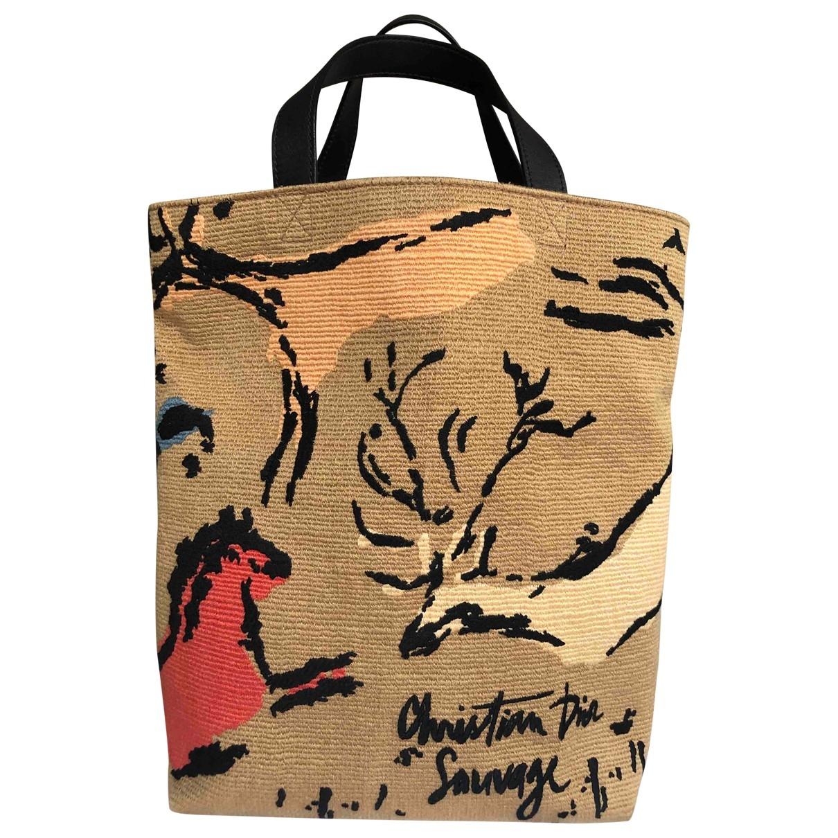 Dior \N Handtasche in  Beige Baumwolle