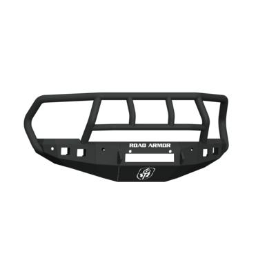 Road Armor Stealth Front Non-Winch Bumper with Titan II Guard with 6 Sensor Holes (Texture Black) - 4162F2B-NW