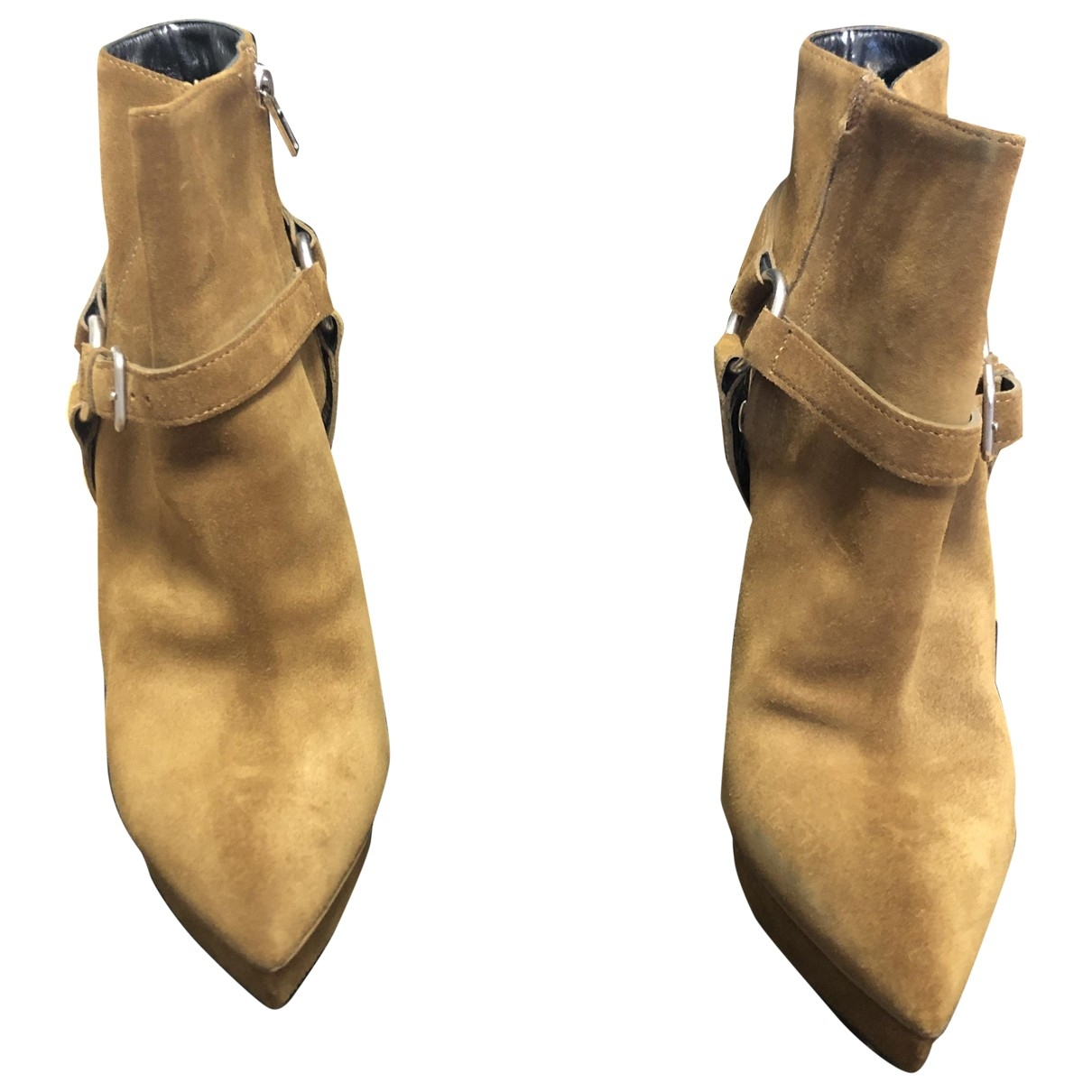 Saint Laurent \N Beige Leather Heels for Women 40.5 EU