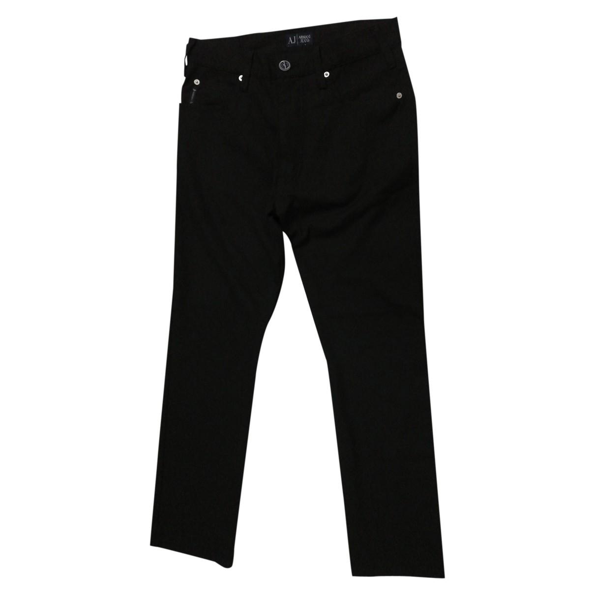 Armani Jeans \N Black Trousers for Men 30 UK - US