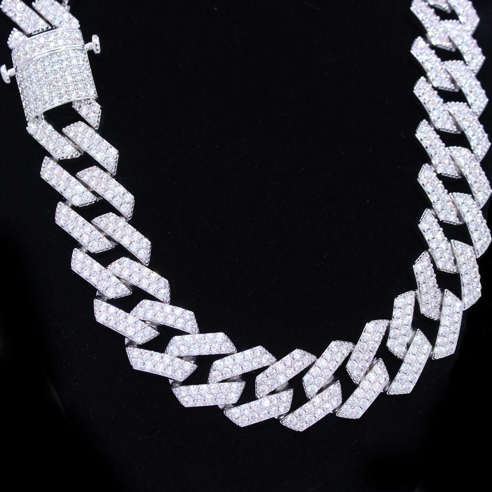 19MM Turkish Cuban Bling Bling Chain White / Yellow Gold