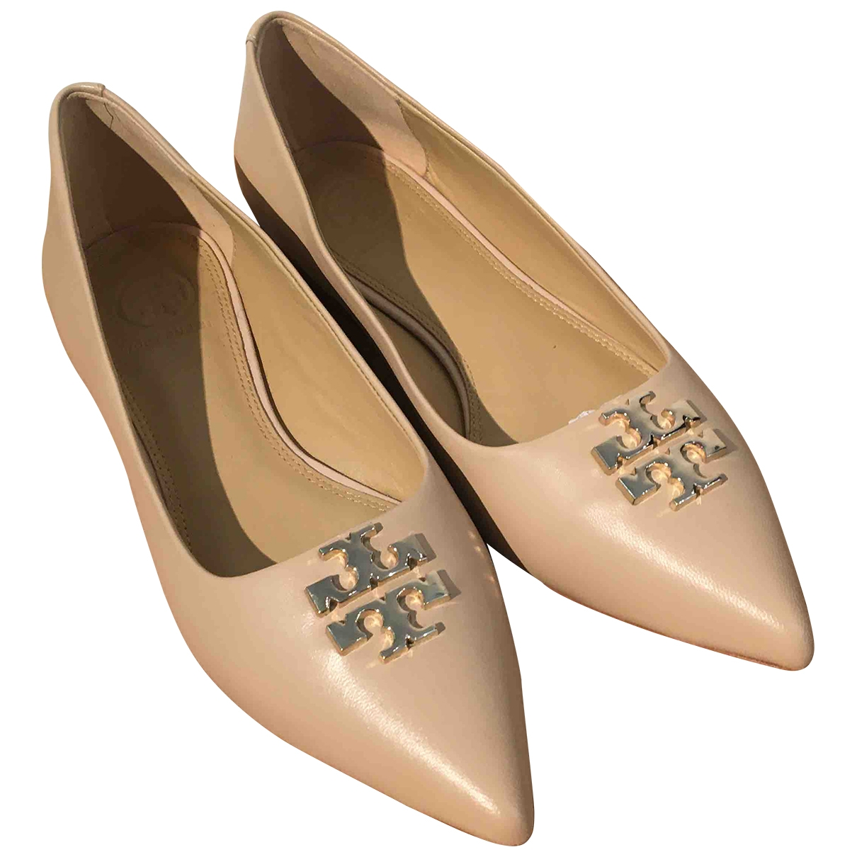 Tory Burch \N Beige Leather Ballet flats for Women 7 US