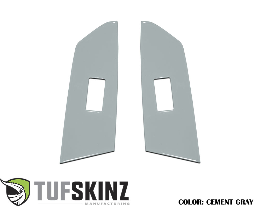 Tufskinz TUN029-GGY-G Crewmax Rear Door Switch Panel Accent Trim Fits 14-up Toyota Tundra 2 Piece Kit Cement Gray