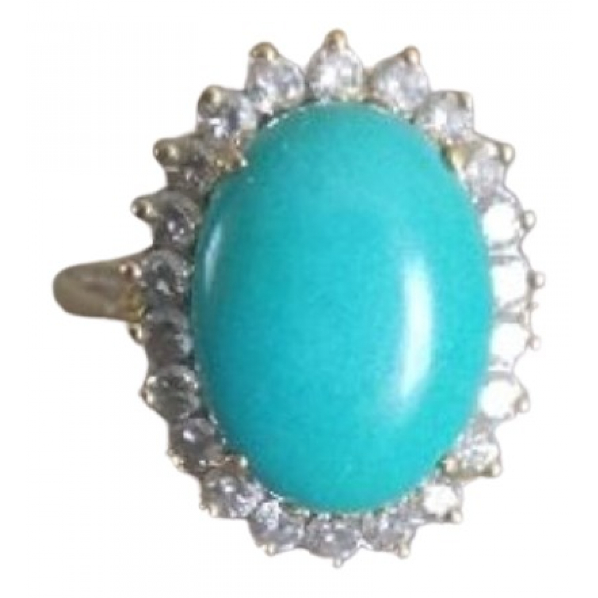 Non Signe / Unsigned Turquoises Ring in  Tuerkis Gelbgold
