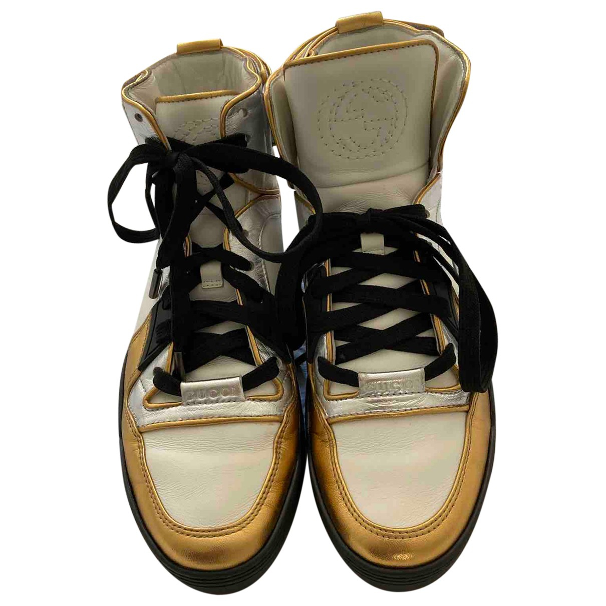 Gucci N White Leather Trainers for Women 38 EU