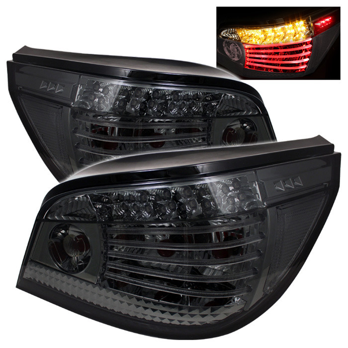 Spyder Auto ALT-YD-BE6004-LED-SM Smoke LED Taillights BMW E60 523i 05-07