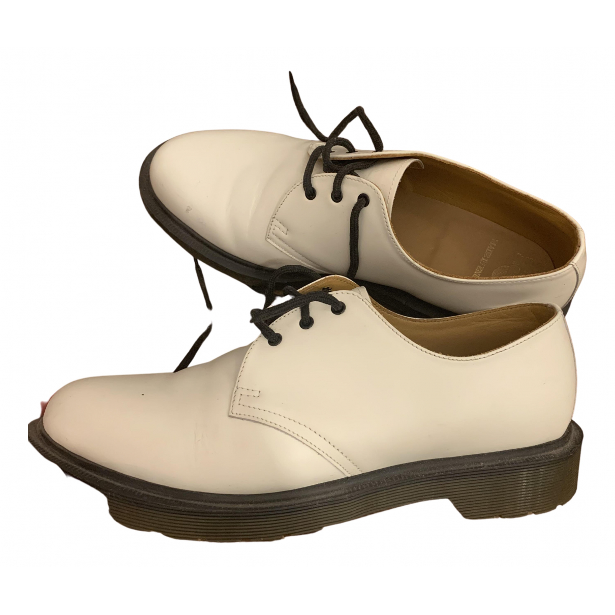 Dr. Martens 1461 (3 eye) White Leather Lace ups for Women 7 UK