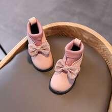 Kleinkind Maedchen Stiefel mit Glitzer und Schleife Dekor