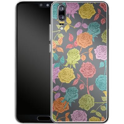 Huawei P20 Silikon Handyhuelle - Roses von Bianca Green
