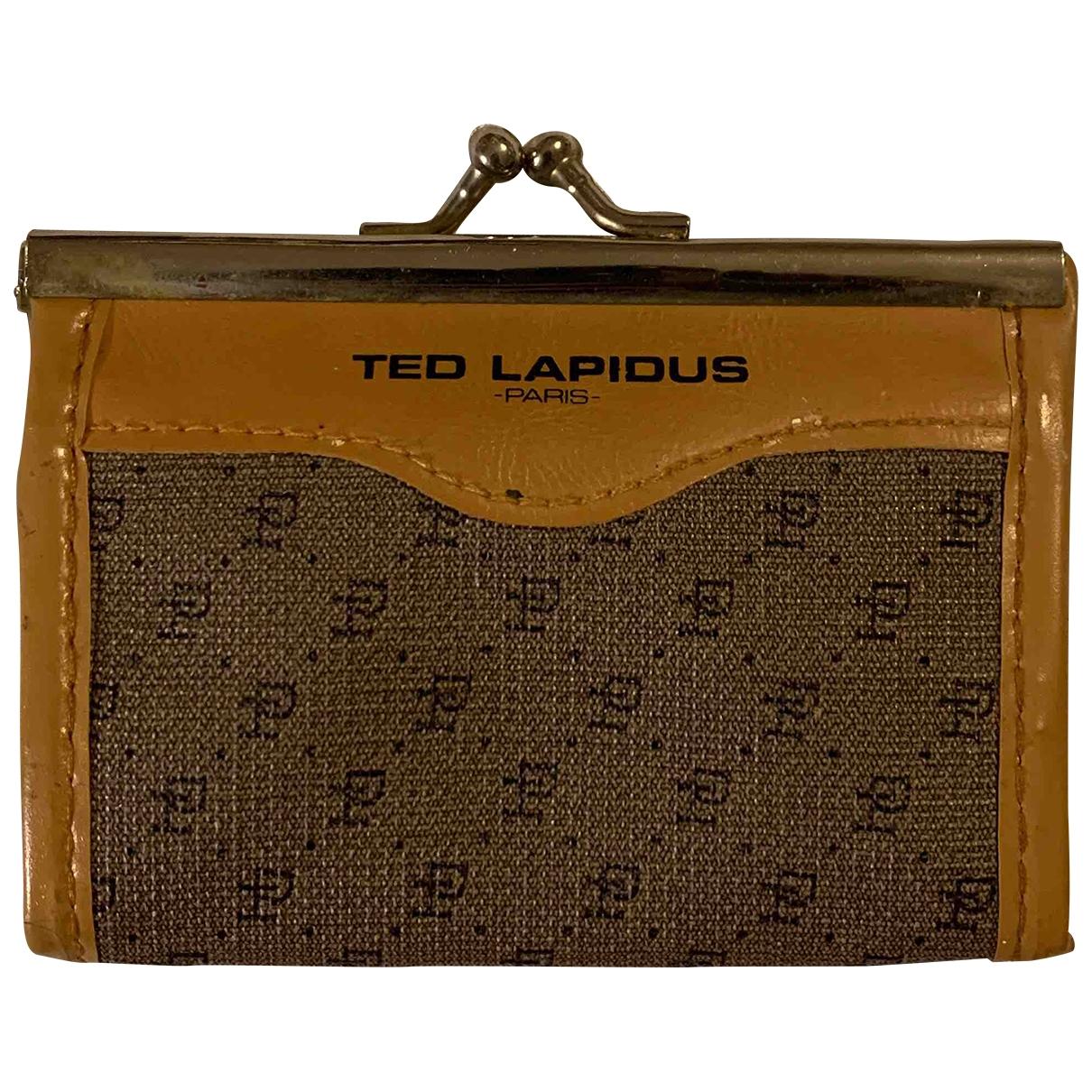Ted Lapidus - Portefeuille   pour femme en autre - beige